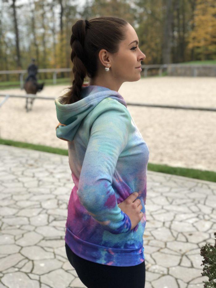 Mikina s kapucí Rainbow Unicorn