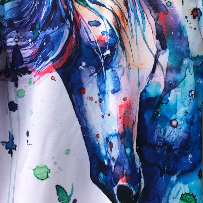 Mikina s kapucí Watercolor